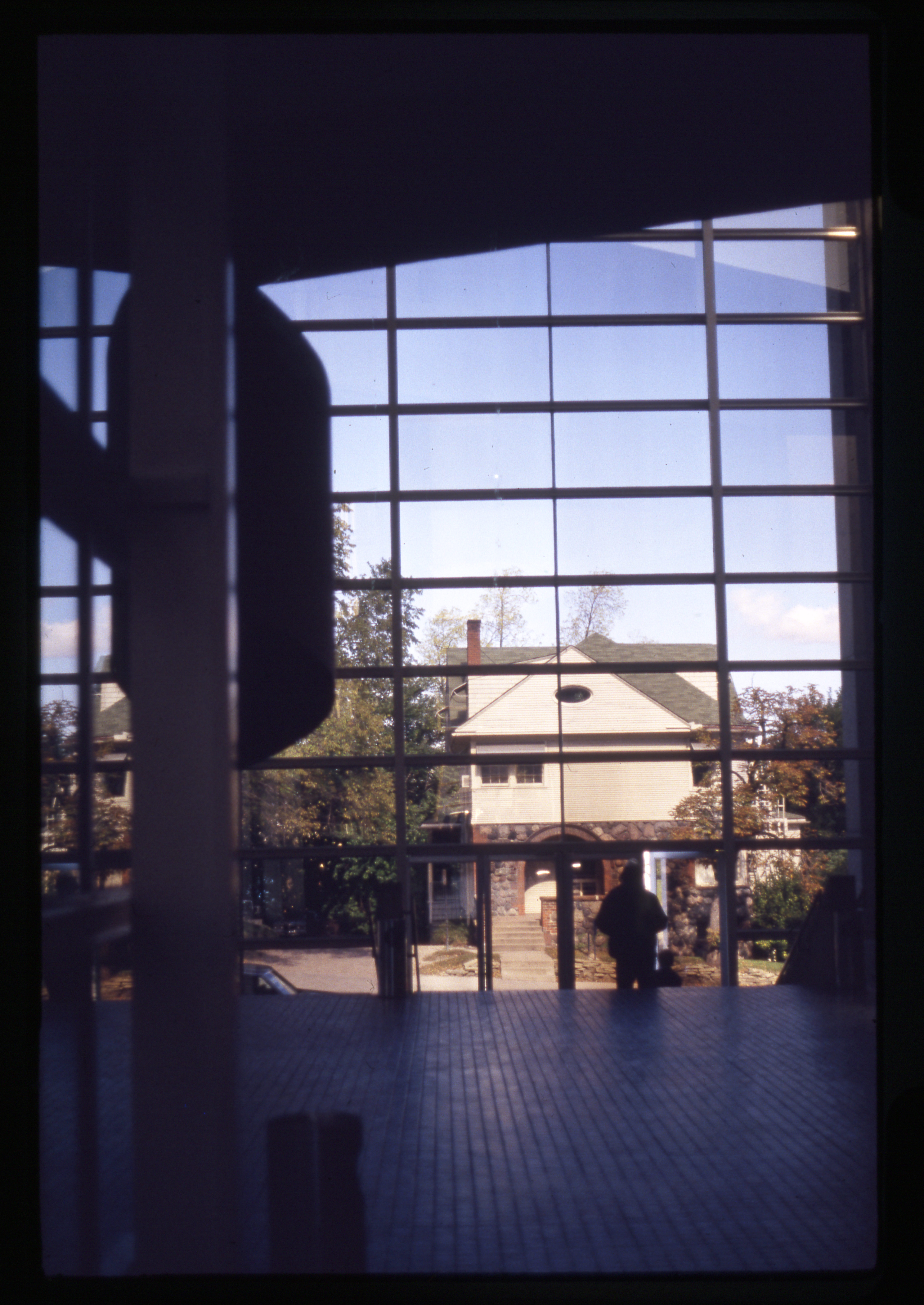 Ann Arbor Power Center looking out at E Huron St, 1981 image