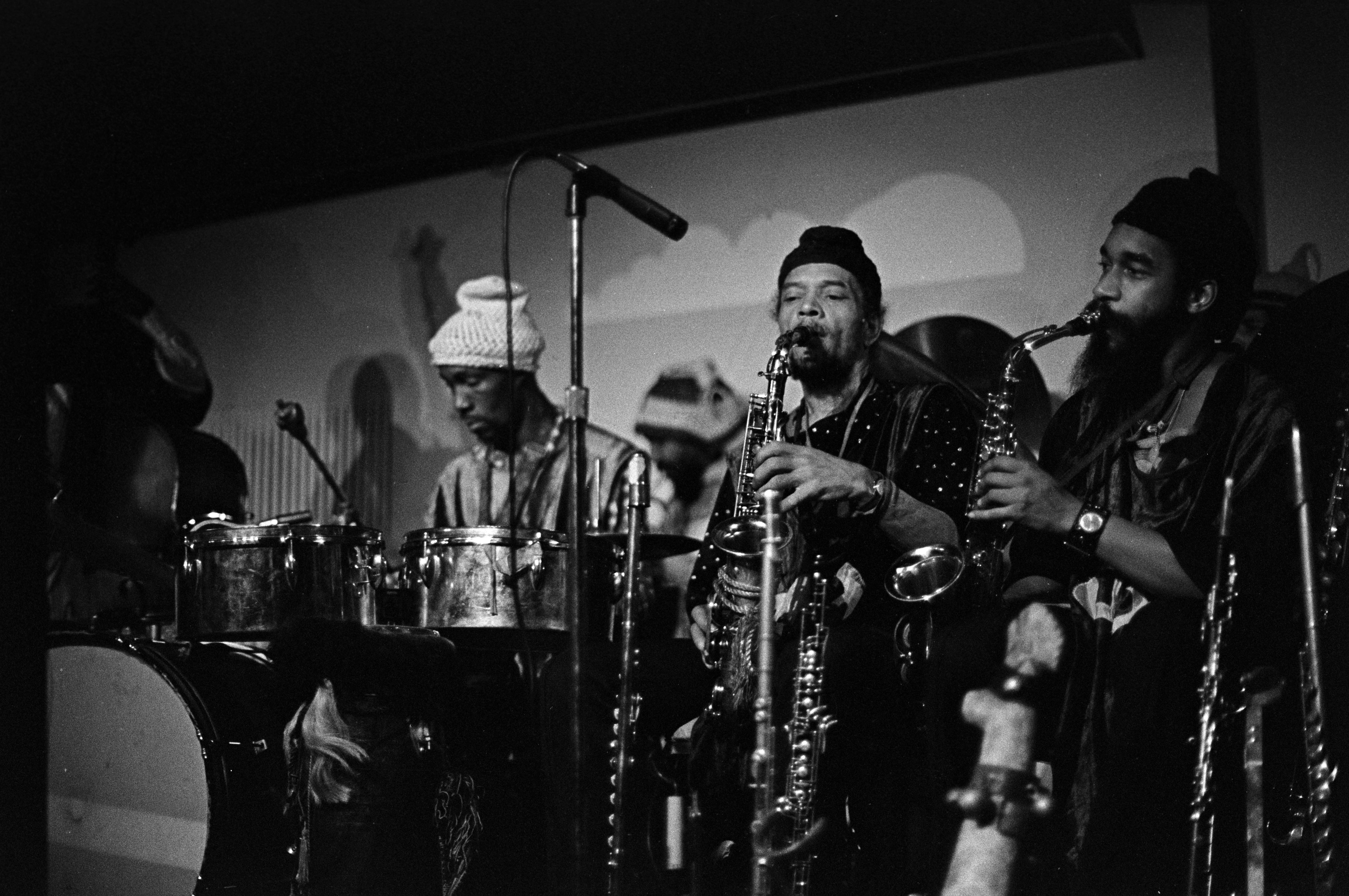 Marshall Allen, left, and Danny Davis Playing Alto with The Sun Ra Arkestra, circa 1977 image