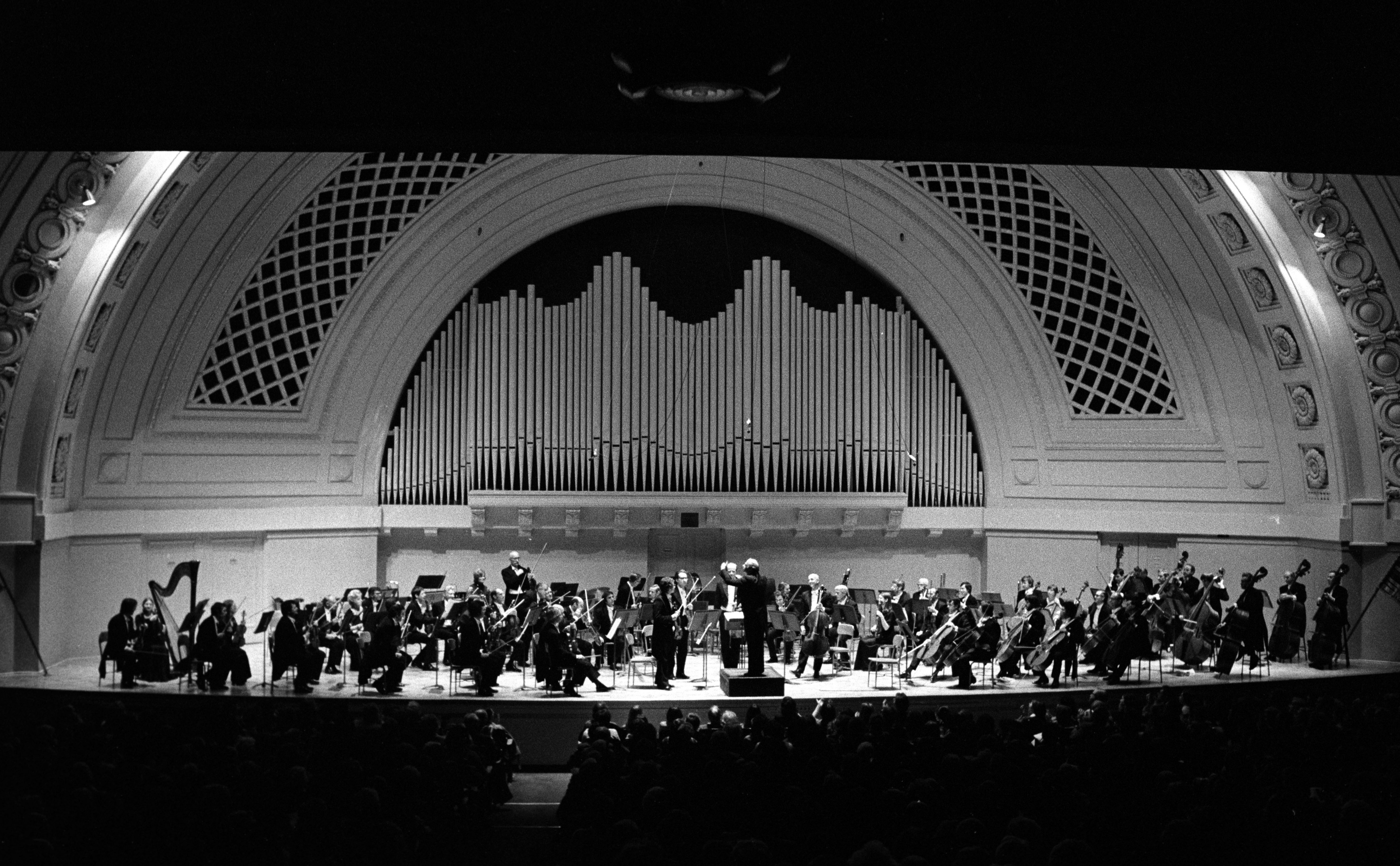 The London Philharmonic Orchestra at Hill Auditorium, November 1976 image