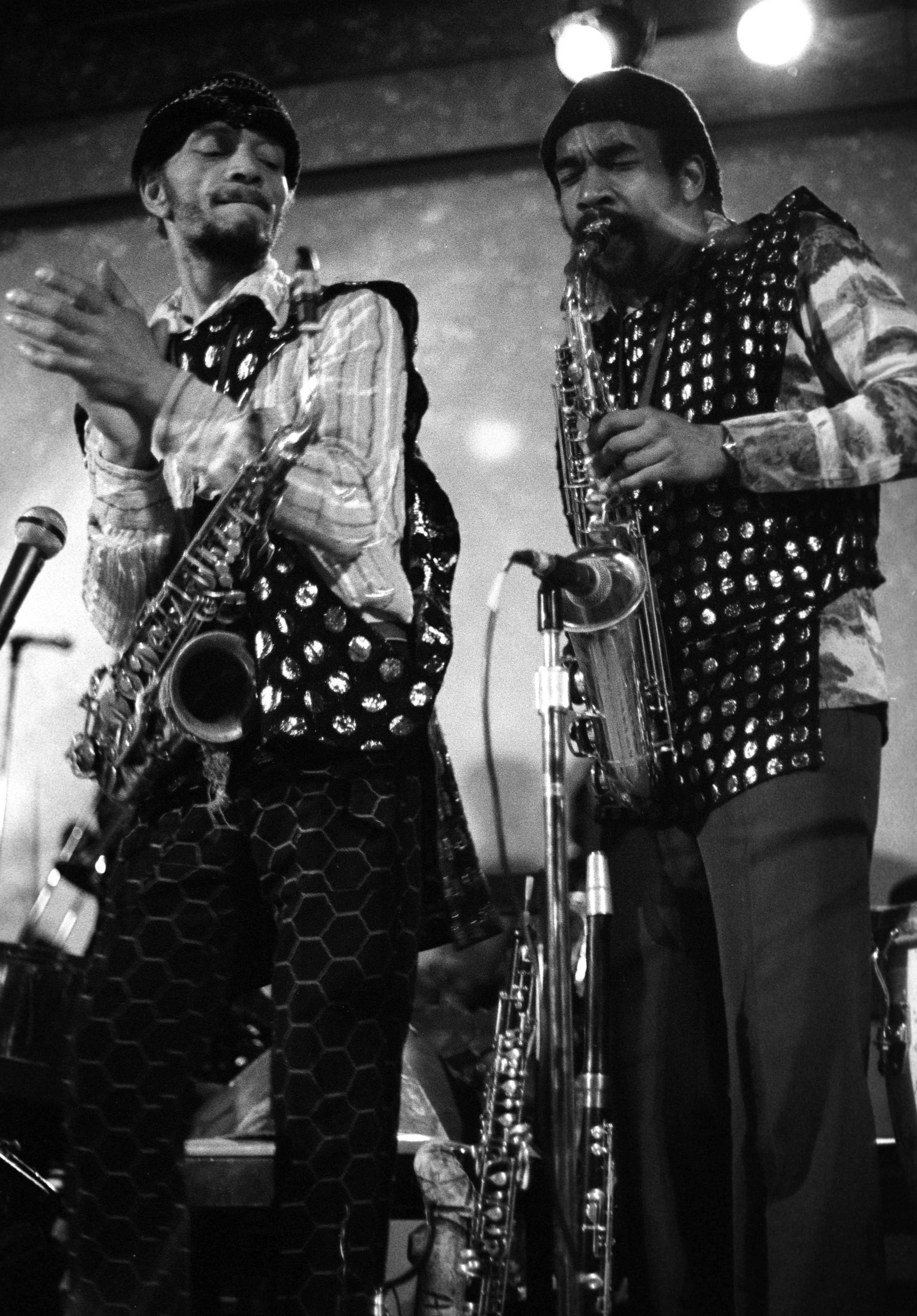 Marshall Allen and Danny Davis with The Sun Ra Arkestra at the Michigan Union, July 1977 image