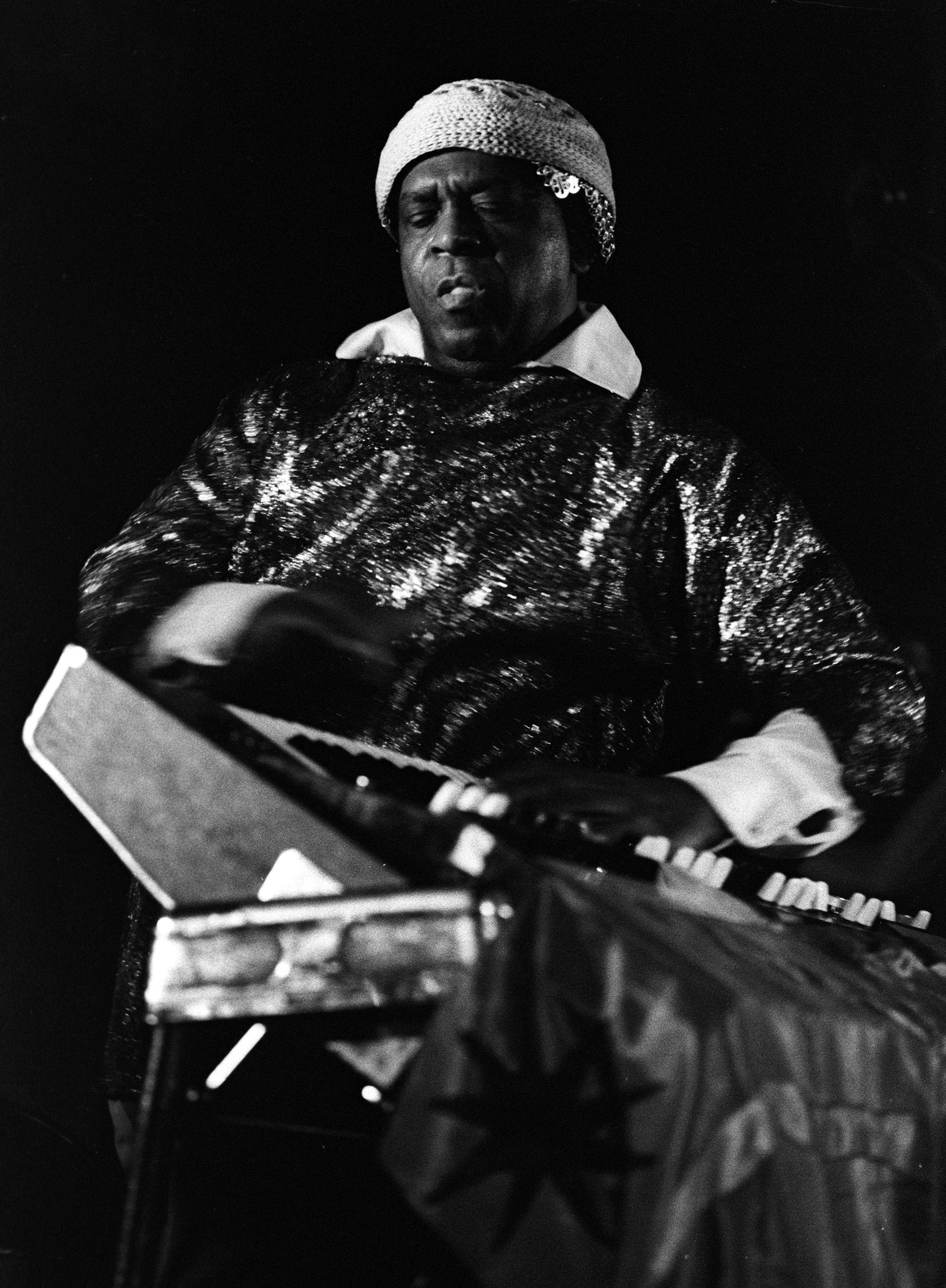 Sun Ra with The Sun Ra Arkestra at the Michigan Union, July 1977 image