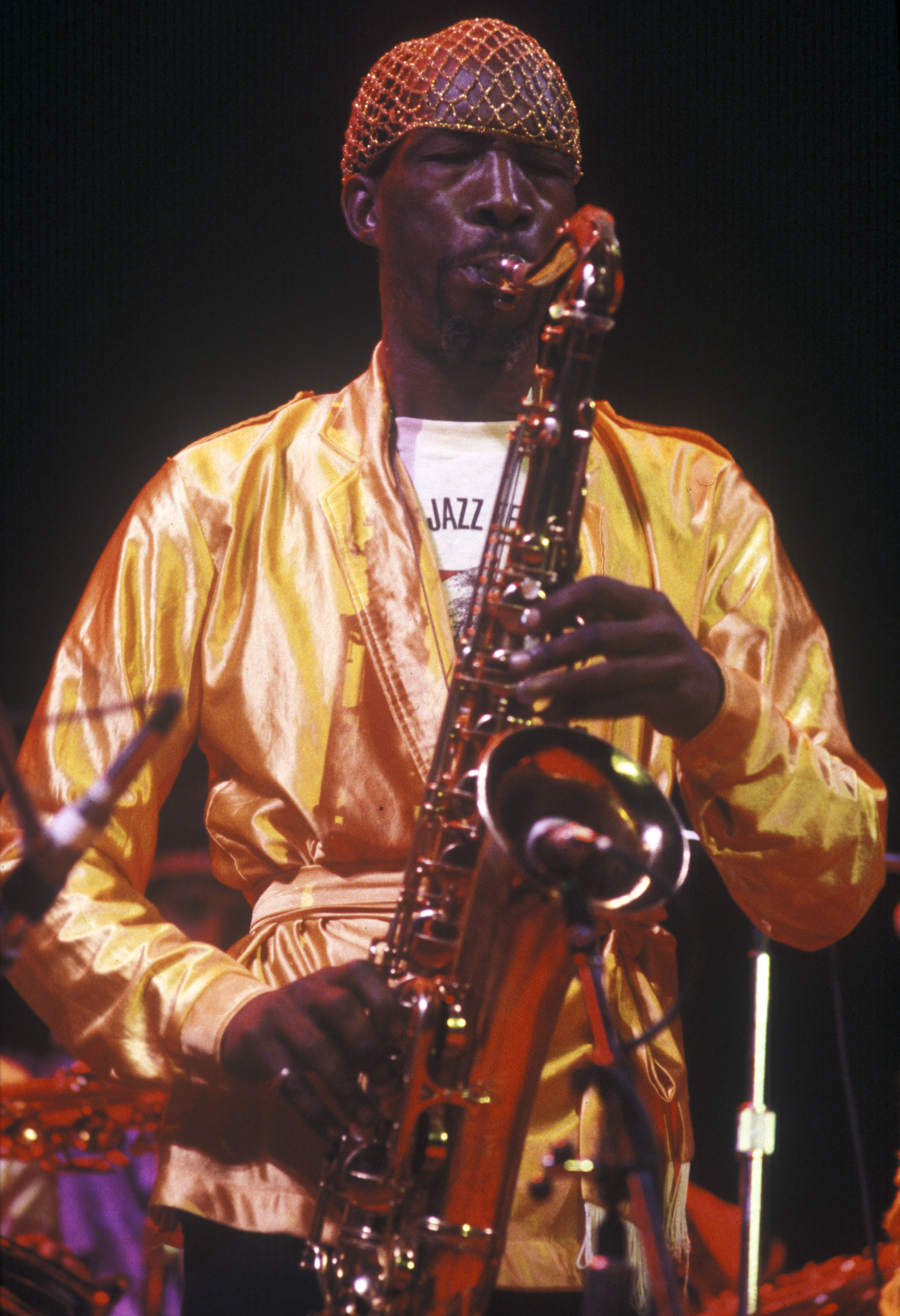 John Gilmore Soloing with the Sun Ra Arkestra at Hill Auditorium, September 28, 1979 image