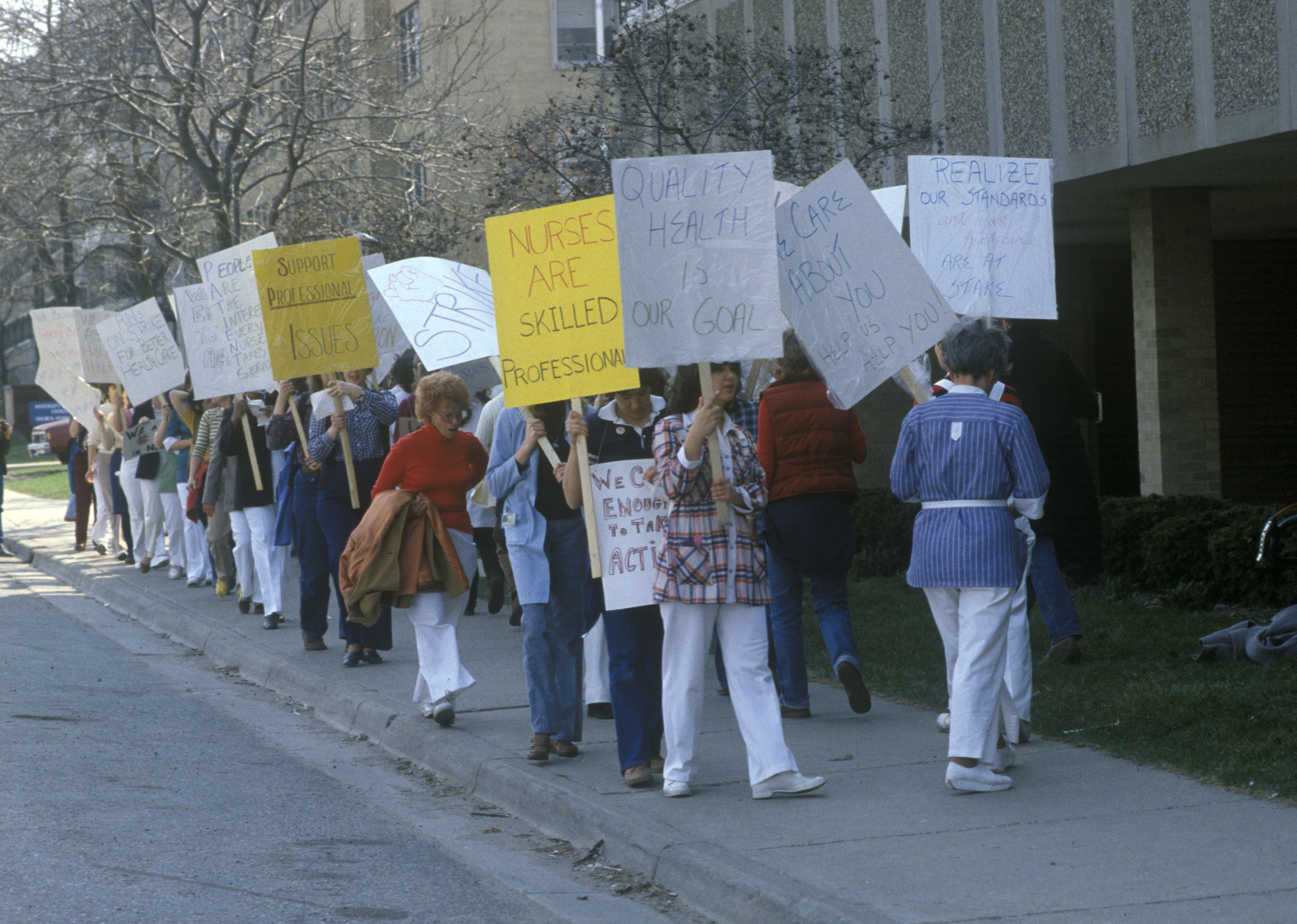 Nurses Striking at the University of Michigan for the First Time in Hospital's History, April 1981 image