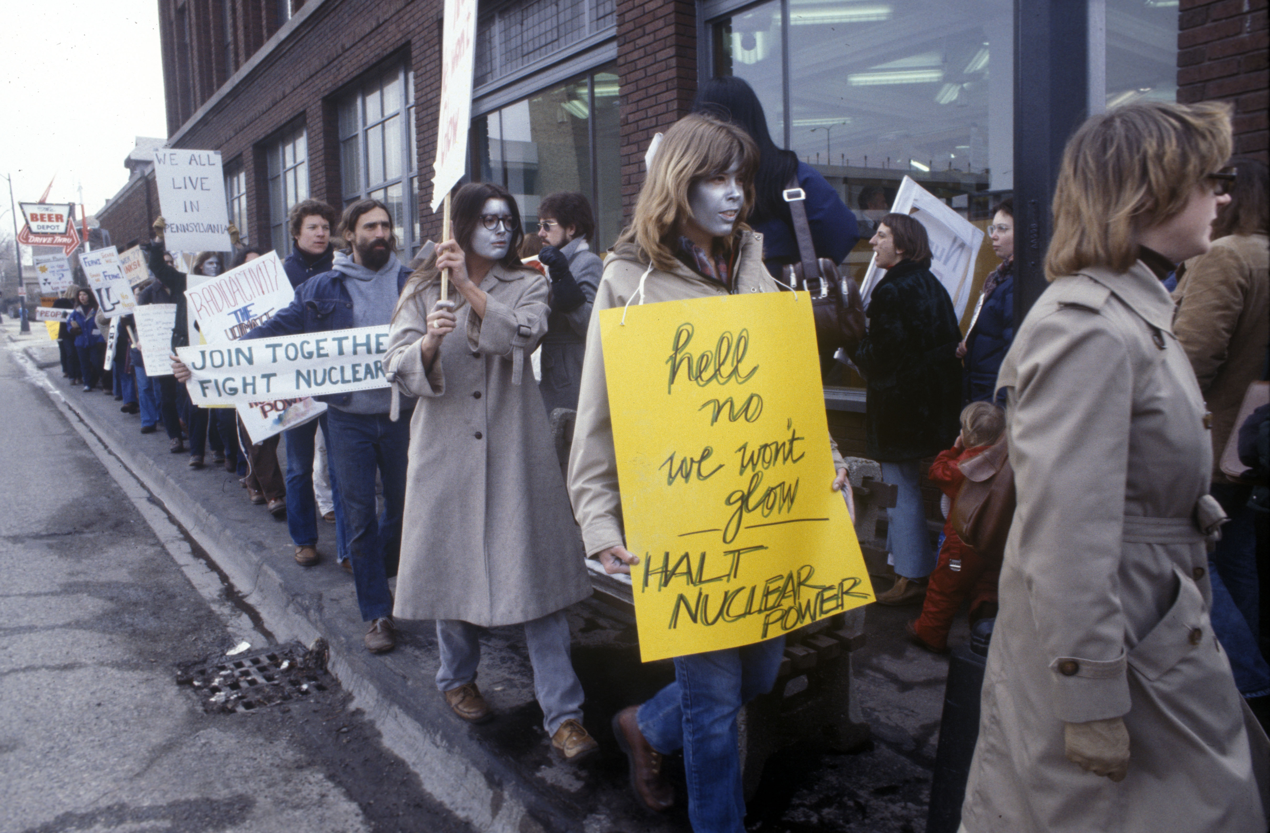 Anti-nuclear Protest Outside Detroit Edison Offices, c.1982 image