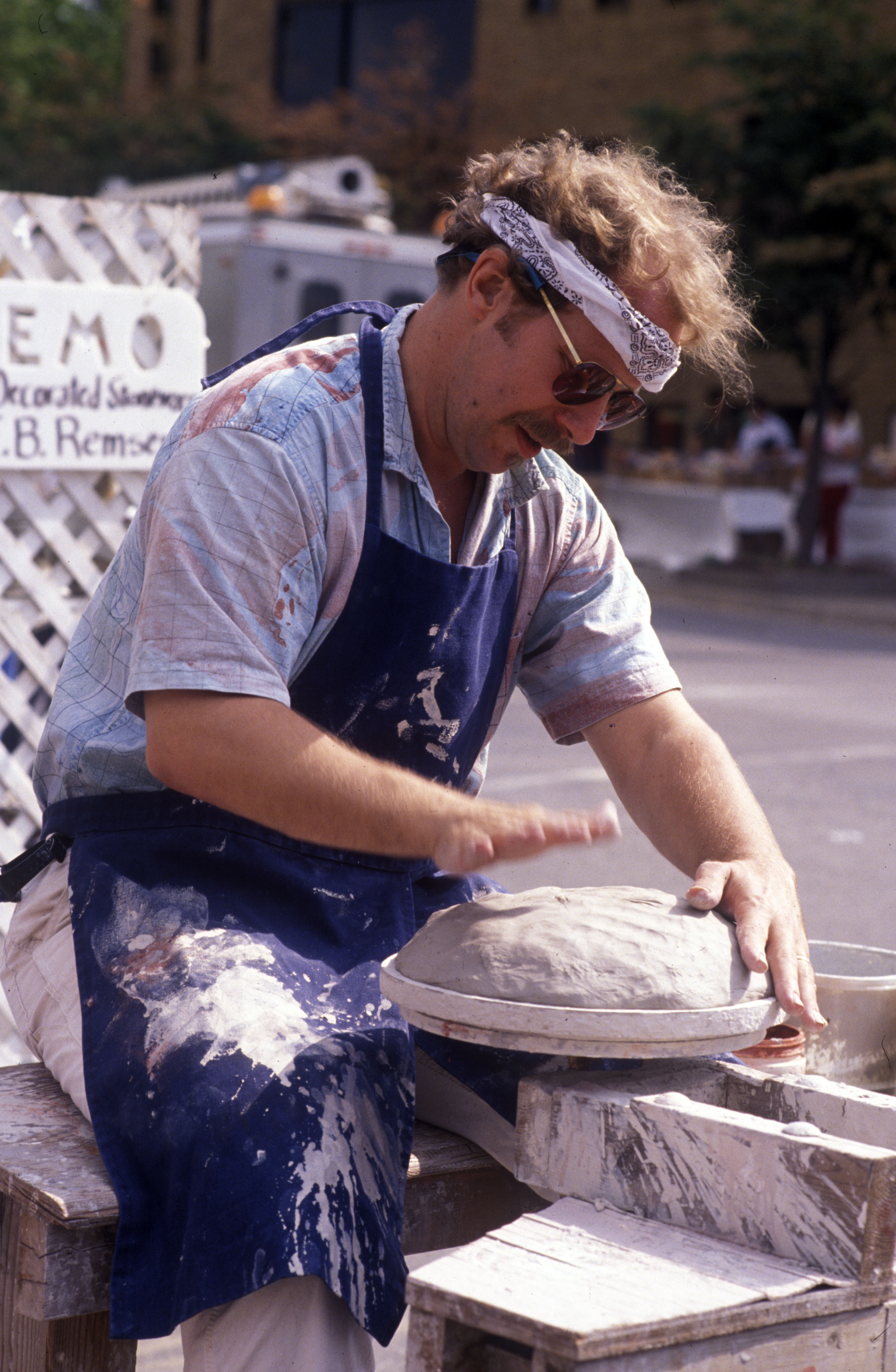 Potter I. B. Remsen Demonstrating at the Ann Arbor Art Fair, July 1988 image