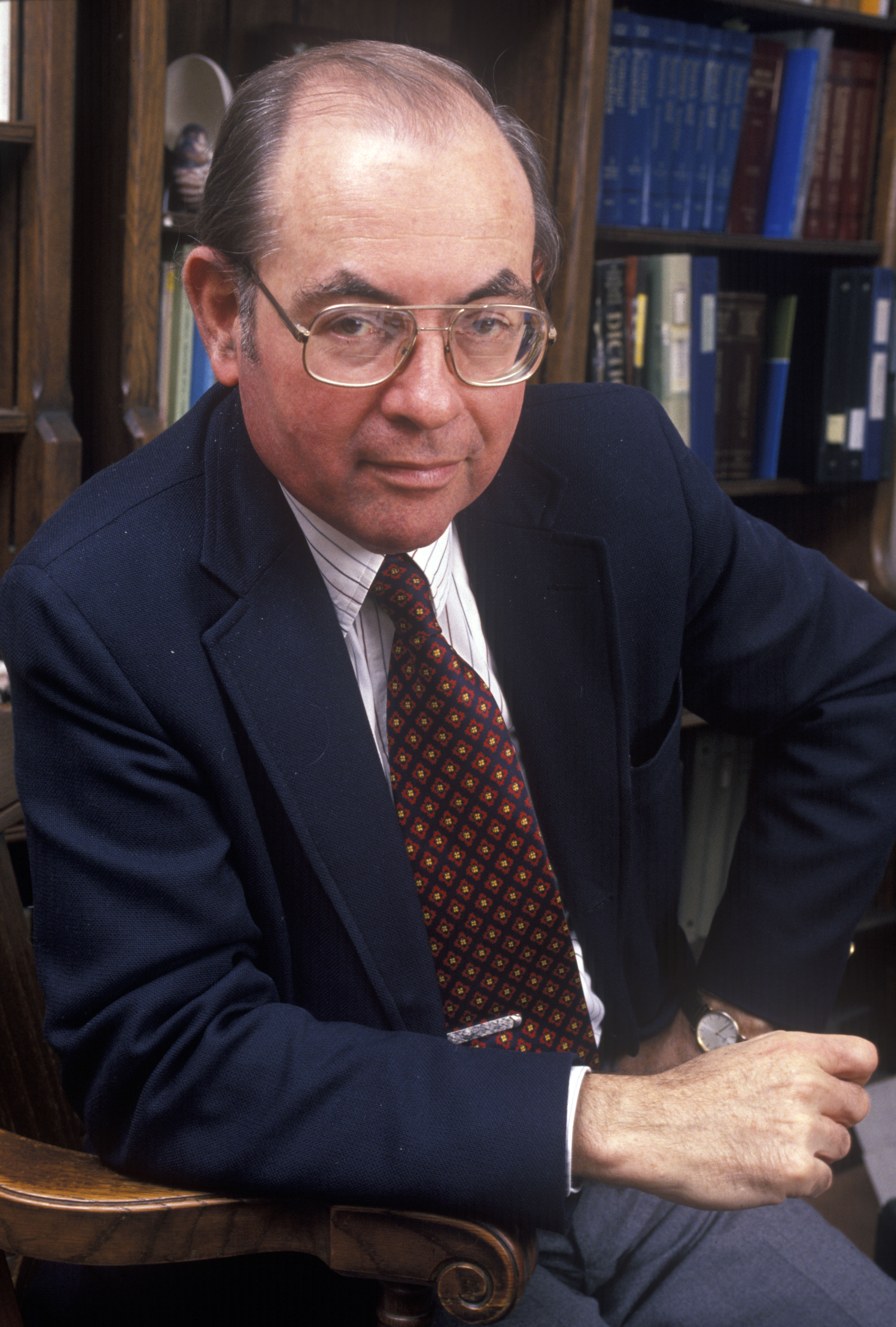 Yale Kamisar, Henry K. Ransom Professor of Law at the University of Michigan, in His Office at the Law School, January 1989 image