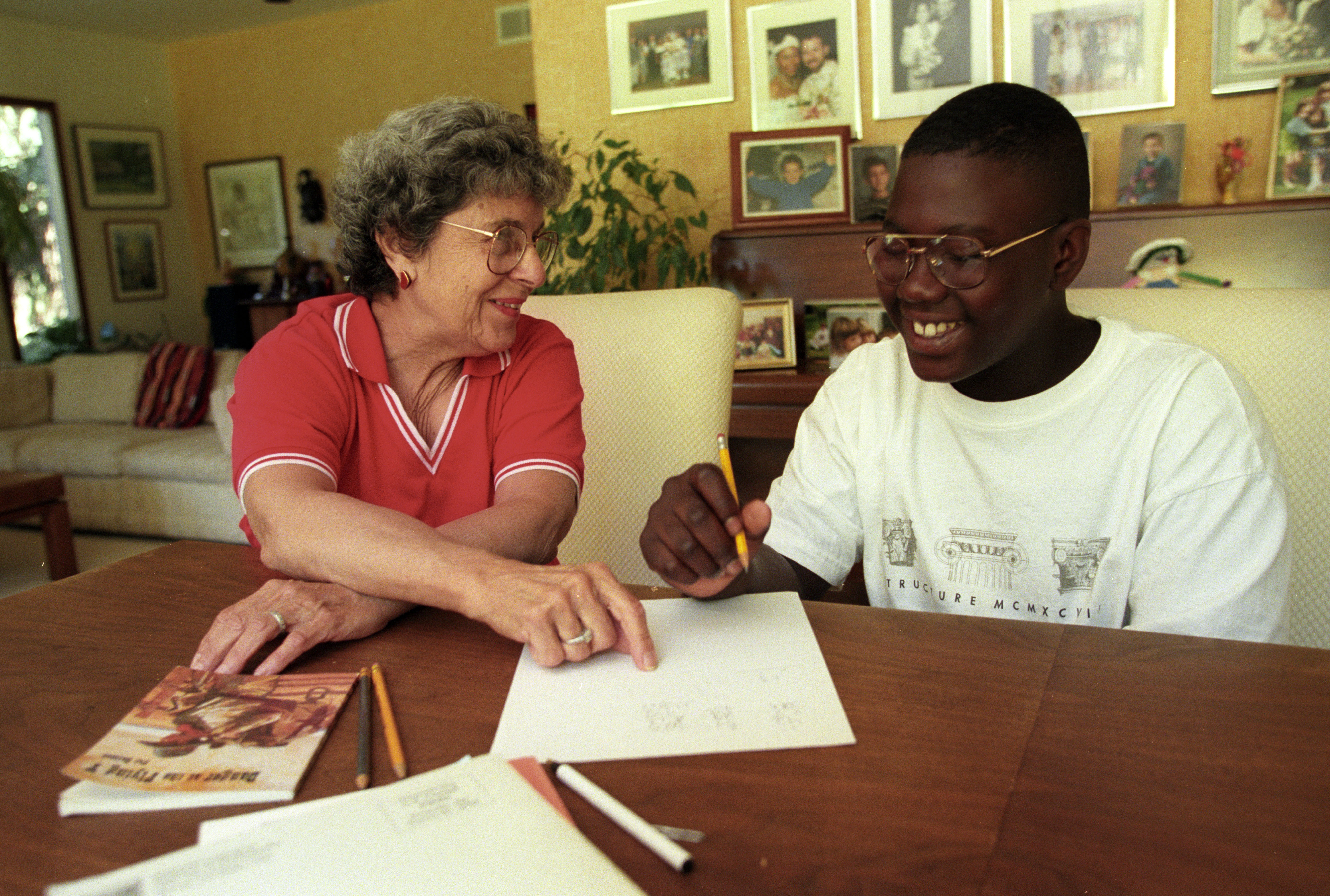 Doris Sperling With a Student at Her Home in Ann Arbor, July 1997 image