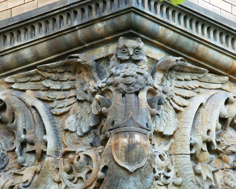 Owl on the Old Main from the book Guardians of Detroit