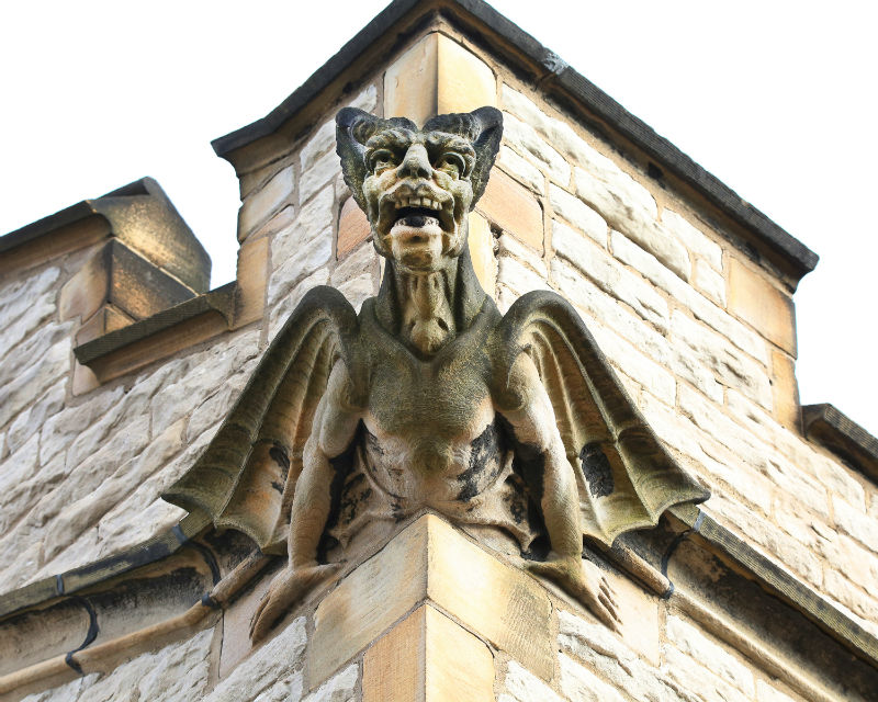 Gargoyle on Trinity Episcopal Church from the the book Guardians of Detroit