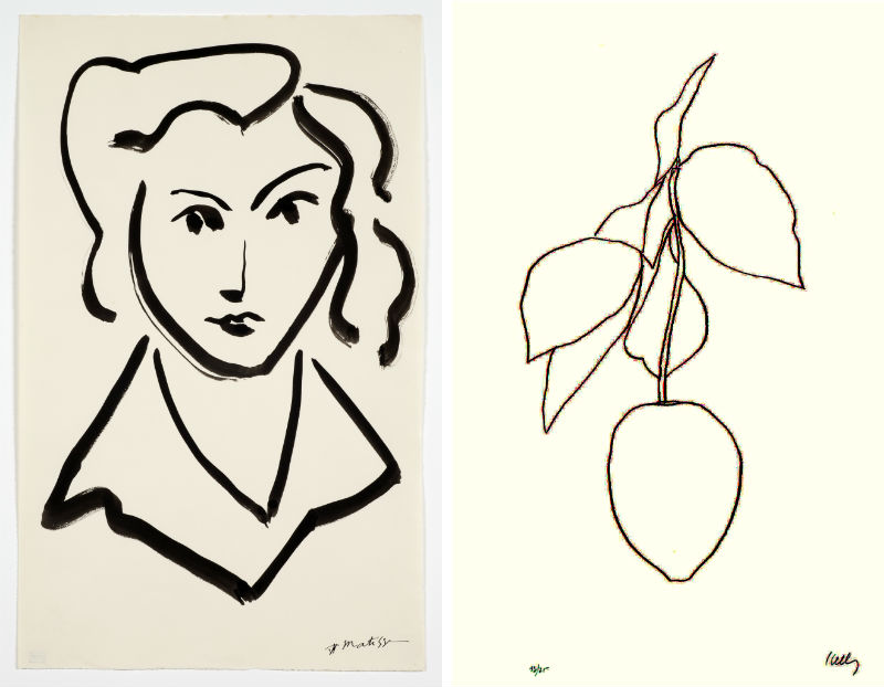 "Line Drawing Matisse : Lyrical lines ""matisse drawings curated by ellsworth"