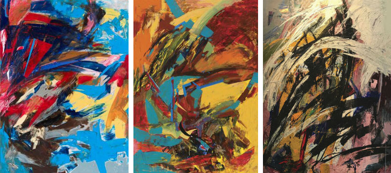 Ted Ramsey, three paintings from his Visual Symphony Series