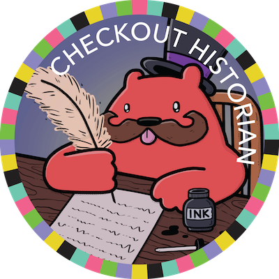 Checkout Historian badge image
