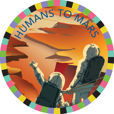 Humans to Mars badge image
